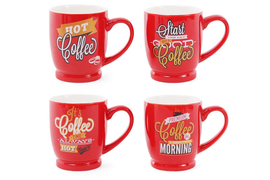 Кружка порцеляновий кав'ярня Coffee 260мл, 4 види 588-144