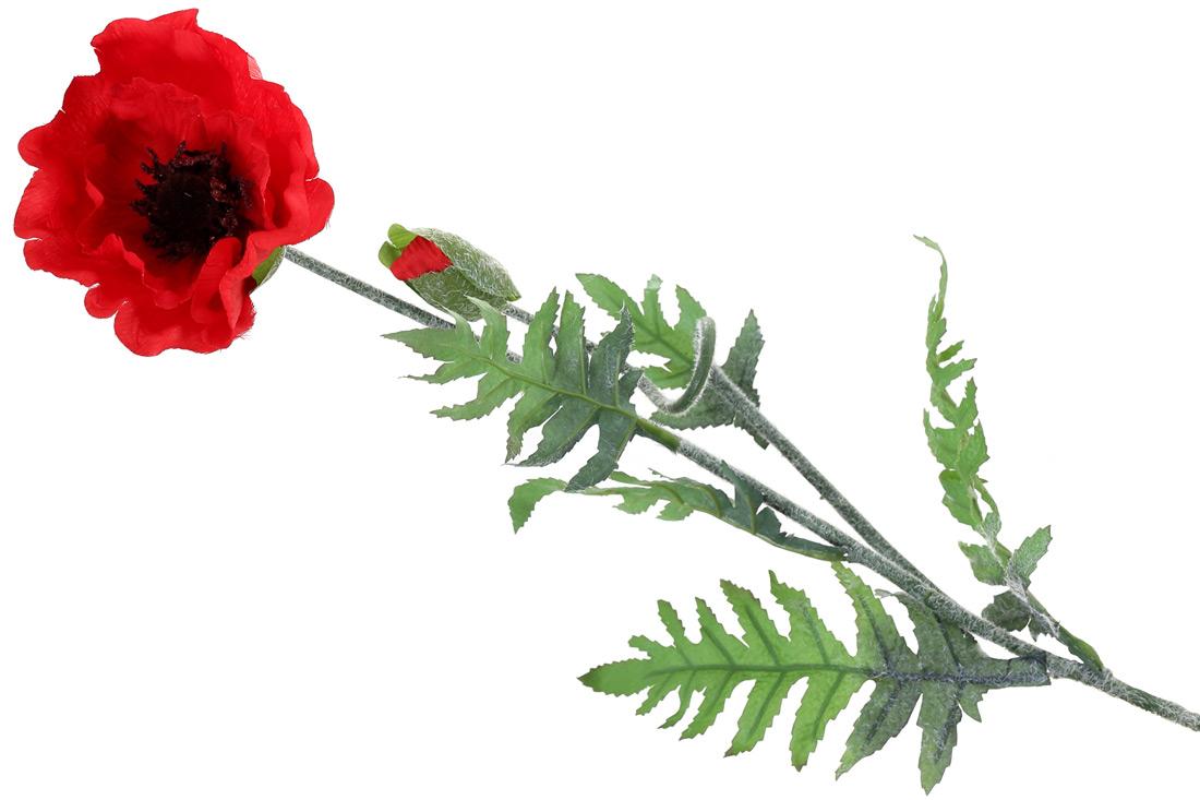 Декоративный цветок Мак 96см цвет - красный BonaDi 709-117