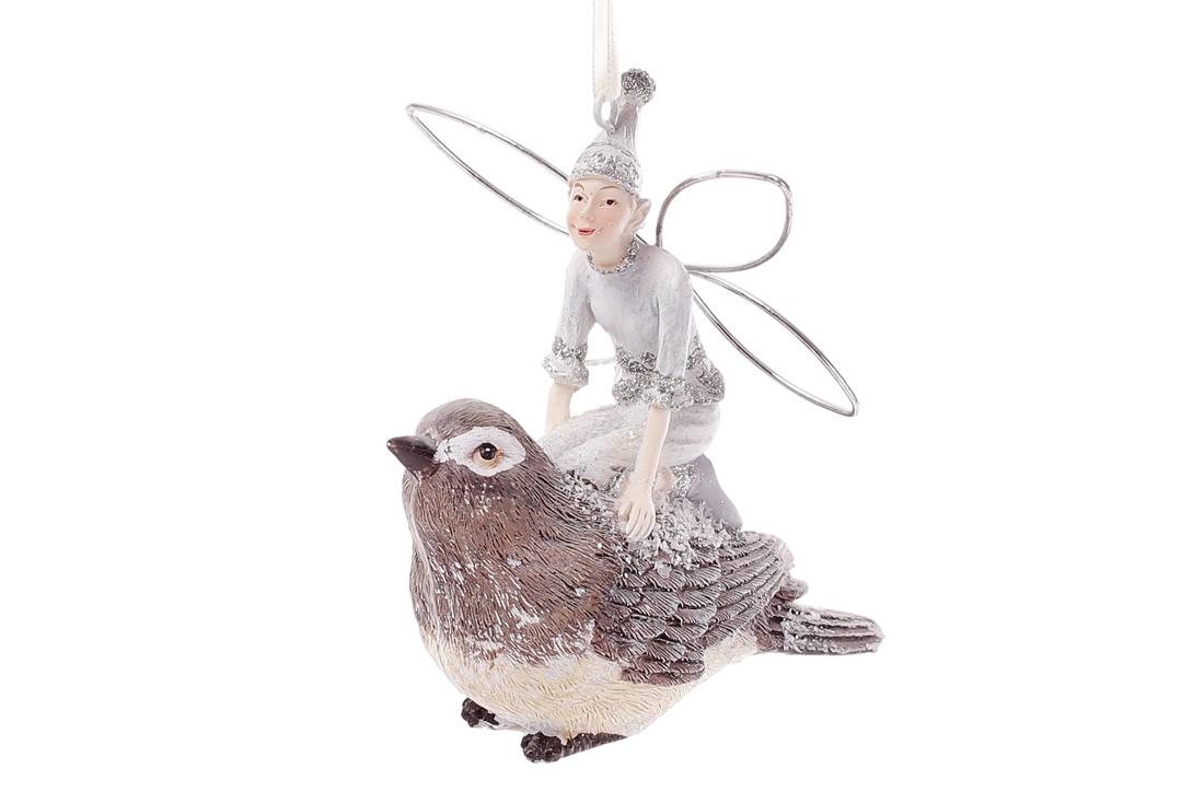 Декоративная статуэтка Фея на птичке 18см BonaDi 838 151