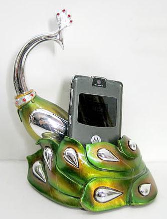 Подставка под мобильный телефон Павлин 16 5см BonaDi 219 P50