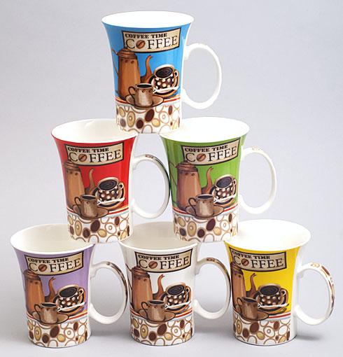 Кружка фарфоровая Coffee Time 380мл 6 видов BonaDi 248-C12