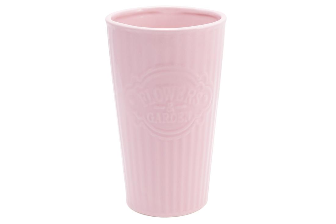 Керамічна ваза 23см колір рожевий BonaDi 720 179