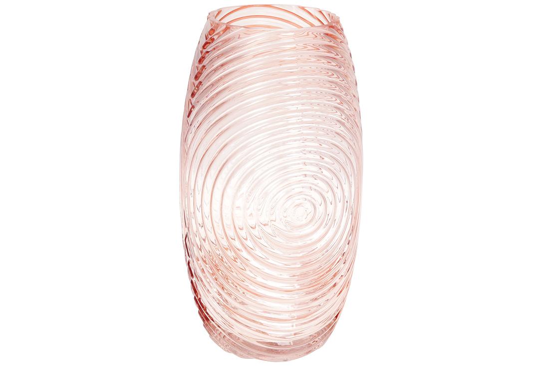 Ваза стеклянная Гэлекси 30см цвет розовый BonaDi 591 271
