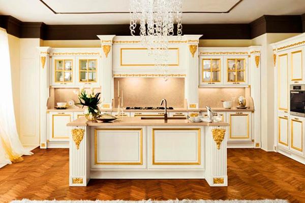 Мебель на кухне приобретает стилистическую направленность во многом благодаря накладкам