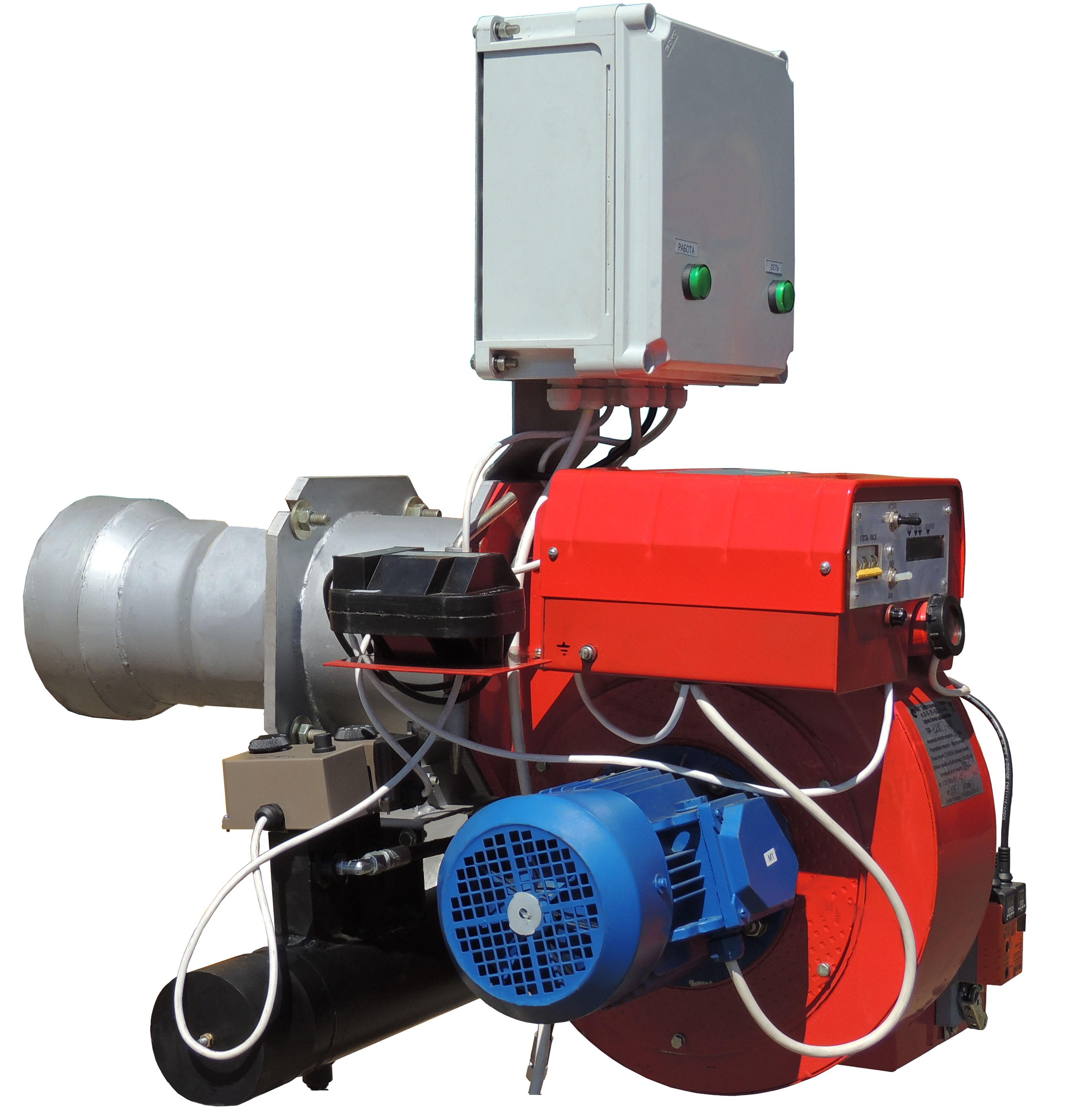 Горелка блочная жидкотопливная   с подогревателем топлива ГБЖ-1,2П