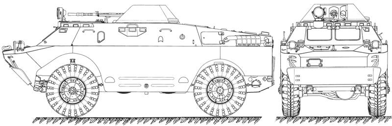 Бронированная разведывательно-дозорная машина БРДМ-2.