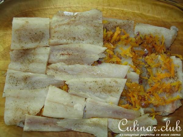 Филе сайды запечёное в сливочном соусе