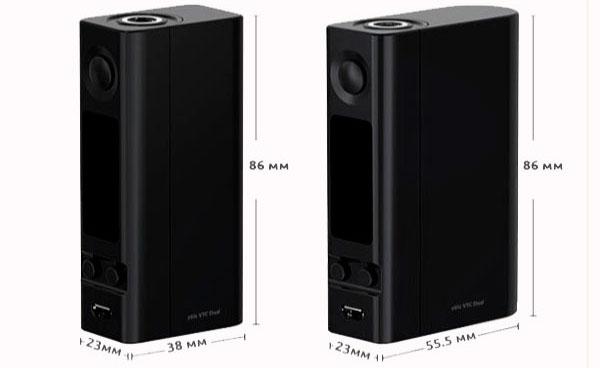 Размеры eVic VTC Dual
