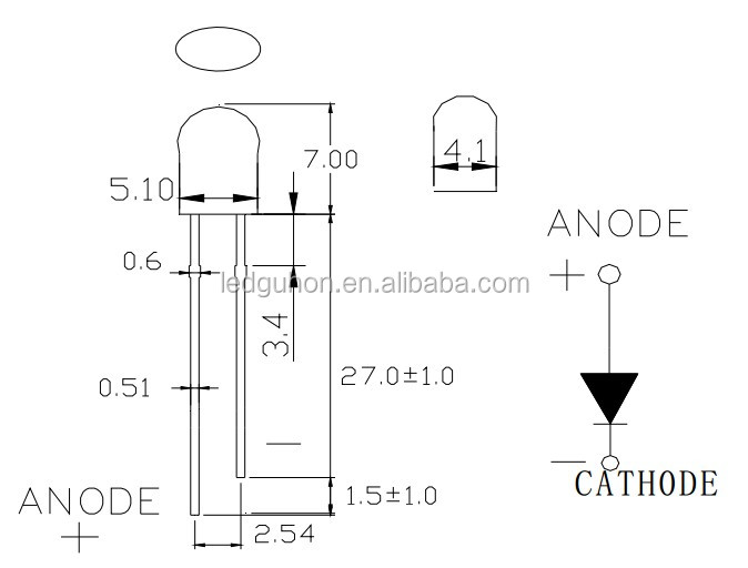 5 мм лампы из светодиодов диод красный овал