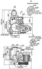 Габаритная характеристика насосов АВЗ-180 фото схема картинка таблица характеристики параметры