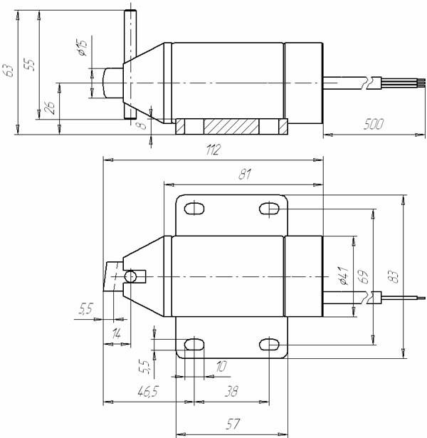 Электромагниты для вентиляционных и противопожарных систем МЭГ 6Пл