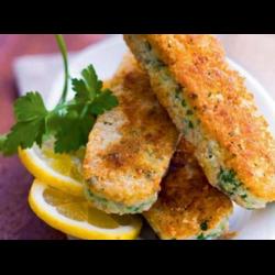 Рецепт: Рыбные палочки в хрустящей панировке