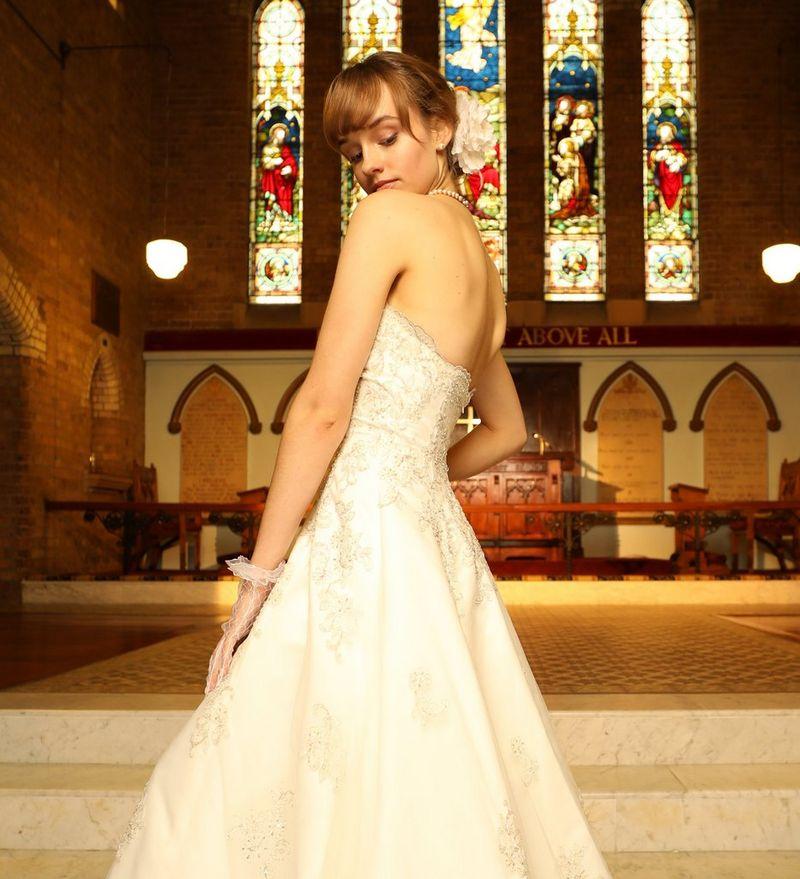 Portrait shot of a bride
