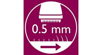 Насадка-триммер для линии бикини подравнивает волосы до длины 0,5мм.