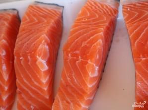 Красная рыба в сливочном соусе в духовке - фото шаг 1