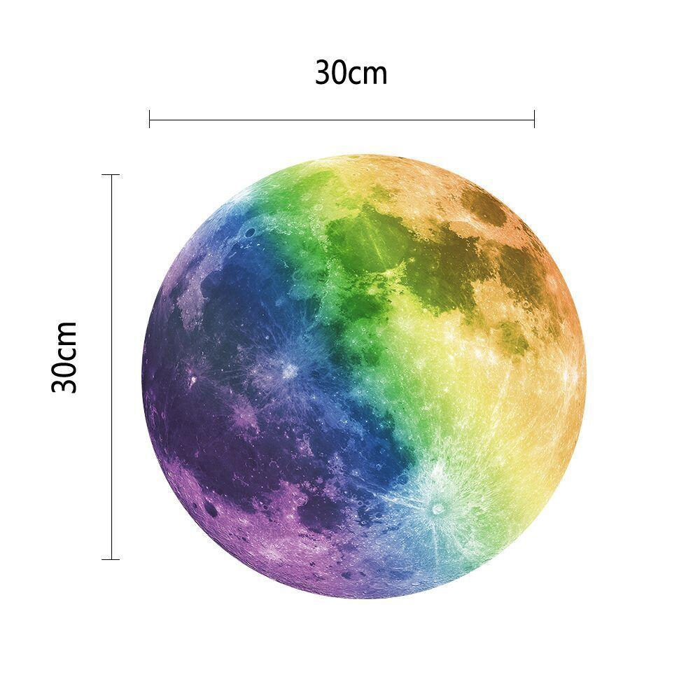 большая луна стикер стены