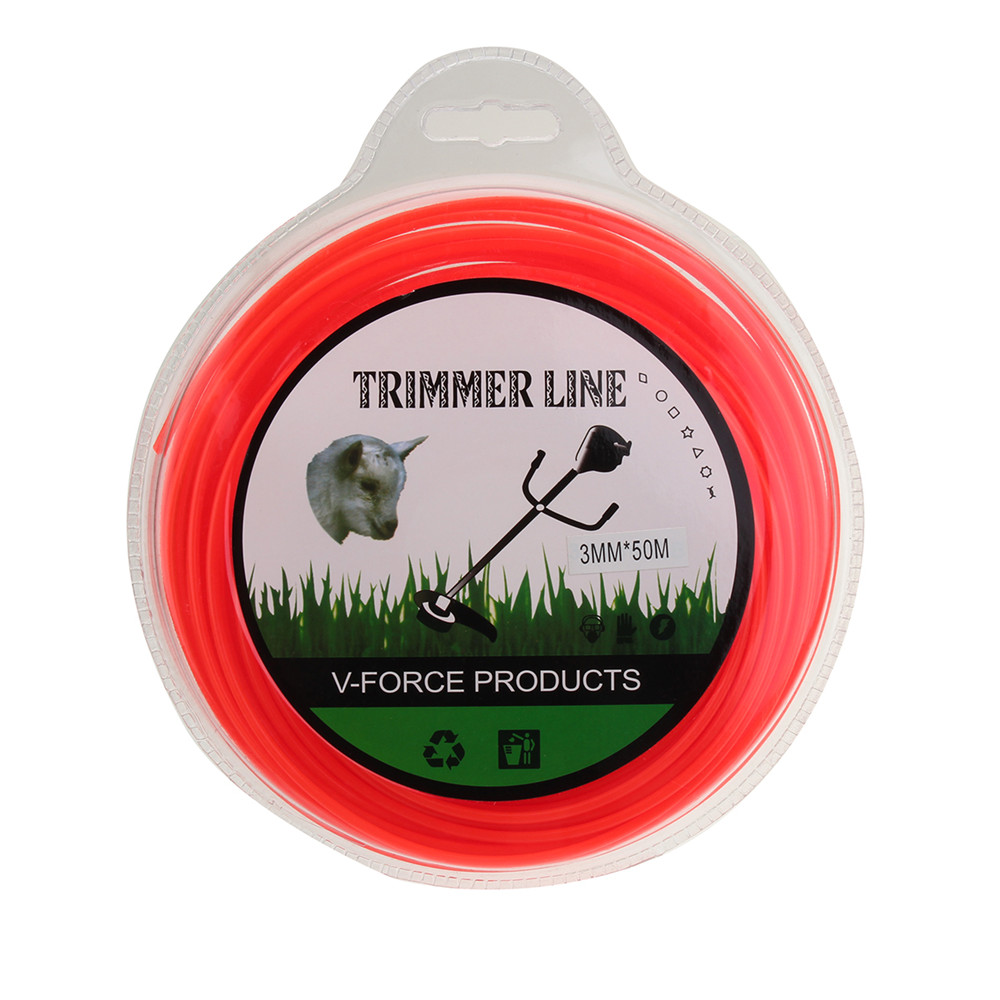 3mm x 50m Nylon Триммер Линия для газонокосилки Brushcutter
