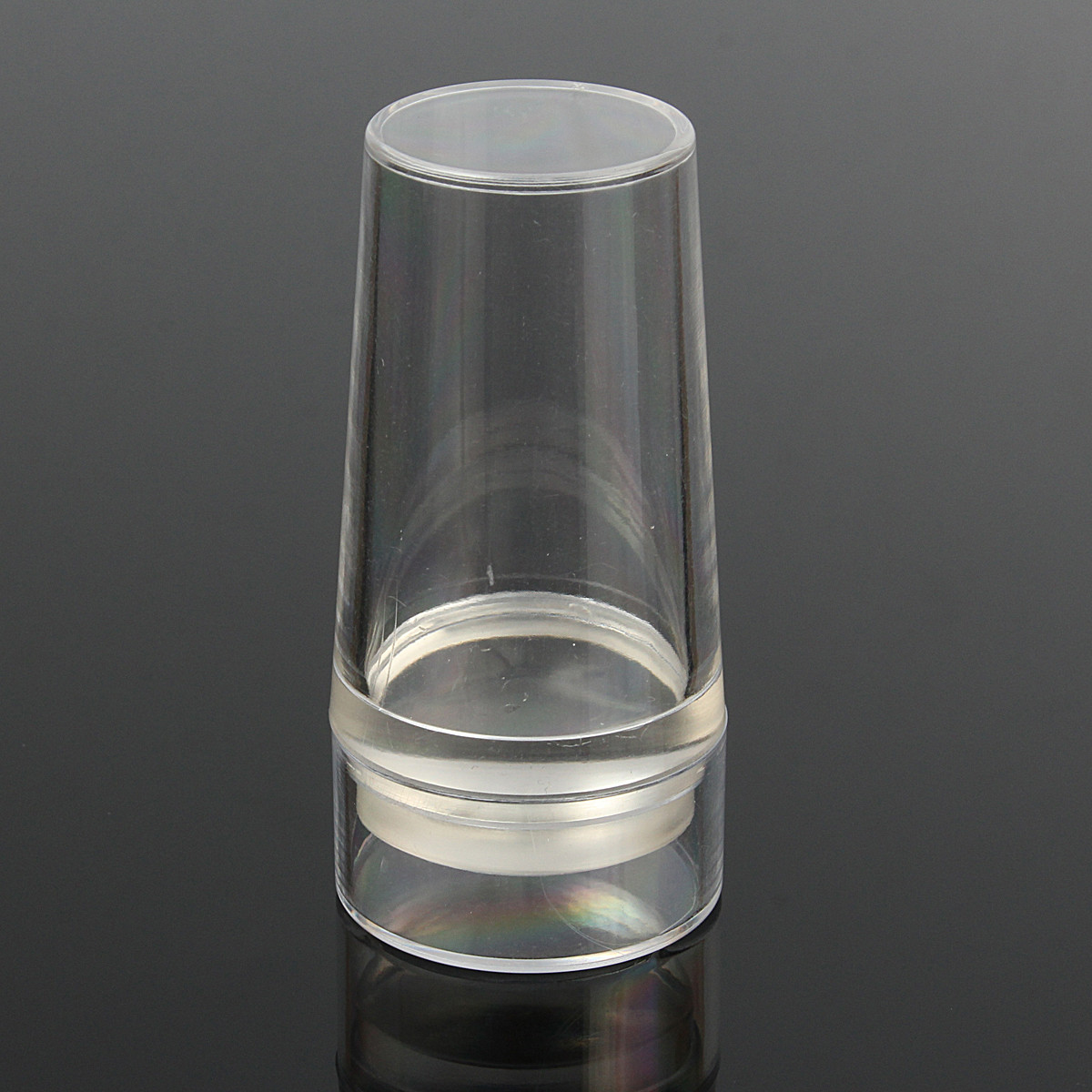 Стампер штамповки шаблон с Силиконовый Маникюр прозрачный крышка скребок