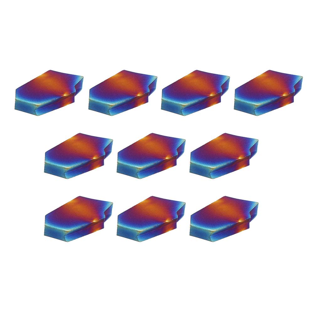Drillpro10штZQMX3N11-1EСинийNanoВставки карбида для фрезы для фрезы CNC Инструмент