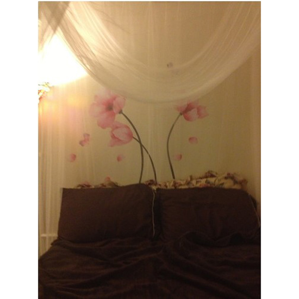 розовый стебель цветка стикер