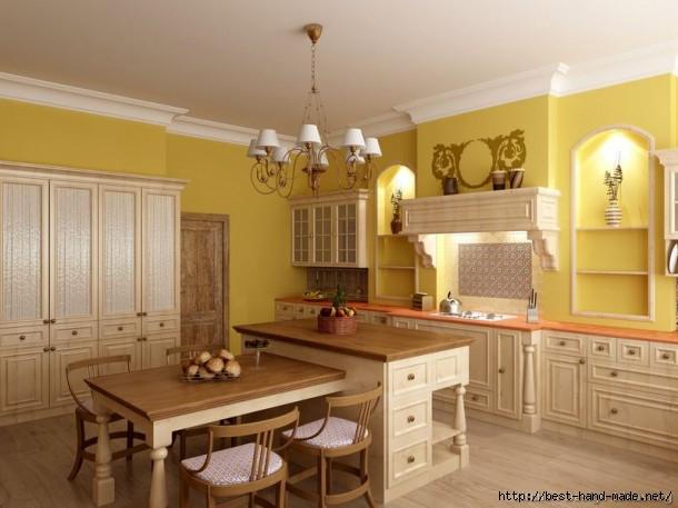 Whitewash-Cabinet-in-Yellow-Kitchen-610x457 (610x457, 135Kb)