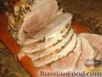 Фото к рецепту: Свинина, шприцованная сливками