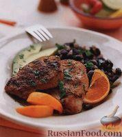 Фото к рецепту: Свиное филе с черной фасолью