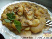 Фото к рецепту: Жаркое из картошки с грибами