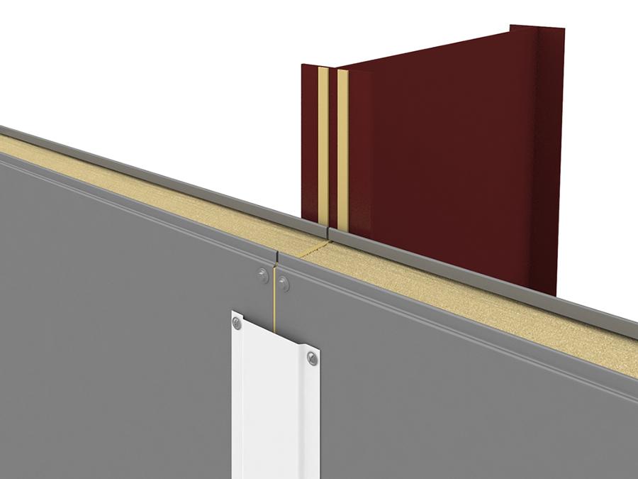 Уплотнитель колонны и сэндвич-панели