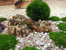 ландшафтный дизайн природным камнем