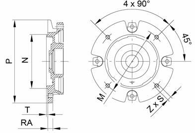 Размеры для габарита 56-80 (IMB14 - больший)