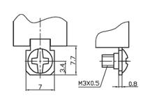 Размеры контактов под винт тумблеров серии KN3