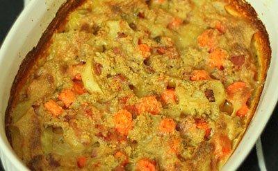 Картофельно-морковная запеканка