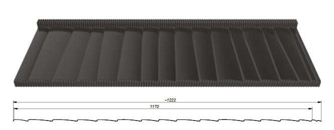 Схема модульной металлочерепицы Яносик