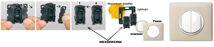 Схема монтажу вимикачів Celiane
