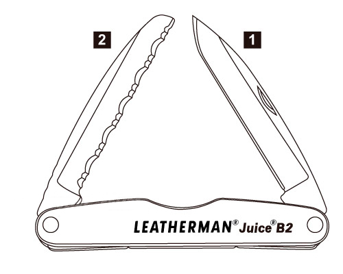 Leatherman Juice B2 Diagram