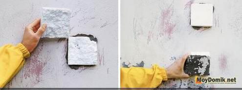 Способ проверки стен на готовность к утеплению пенопластом