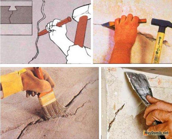Технология заделки трещин в стенах