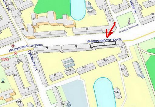 Карта проезда к СЦ SPI на Проспекте