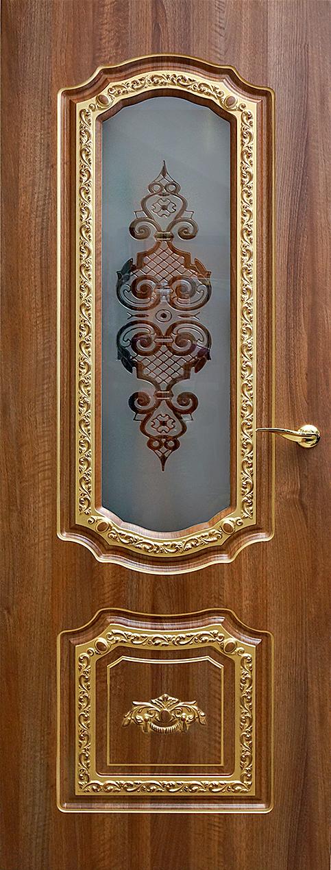 Дверь Геона со стеклянной вставкой