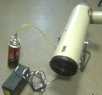 Фото: Самодельная газовая пушка