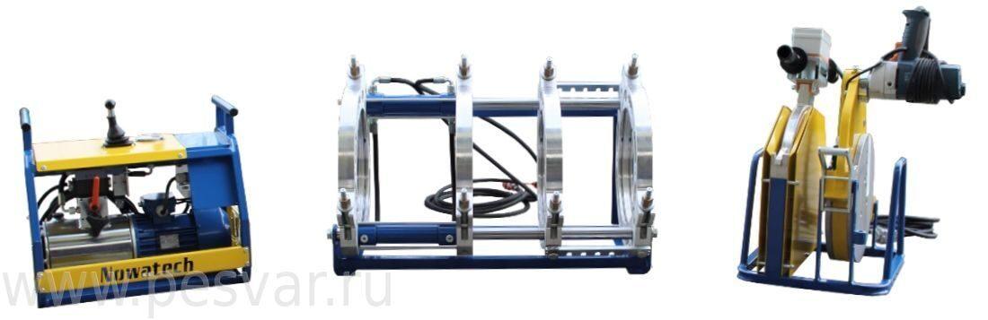 Стыковые сварочные аппараты для полиэтиленовых труб Nowatech ZHCB с ручным управлением