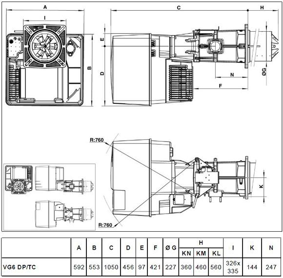 VG6 DP TC size