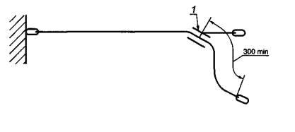 Схема установки регулируемого стропа для испытания