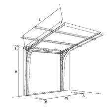 Наклонный подъем секционных ворот, чертеж