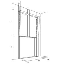 Вертикальный подъем секционных ворот, чертеж