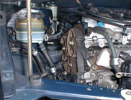 ремень ГРМ на двигателе Toyota 3S-GE