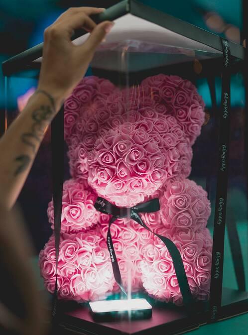 мишки из 3d роз купить