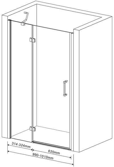 душові двері в нішу Eger 599-701