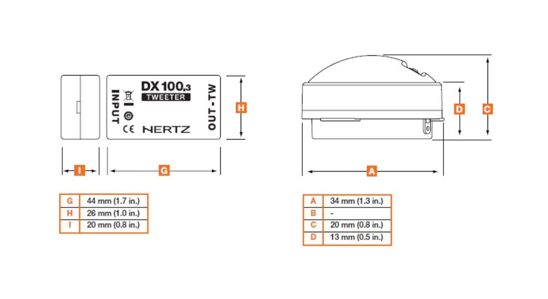 Оборудование car audio HERTZ DT 24.3